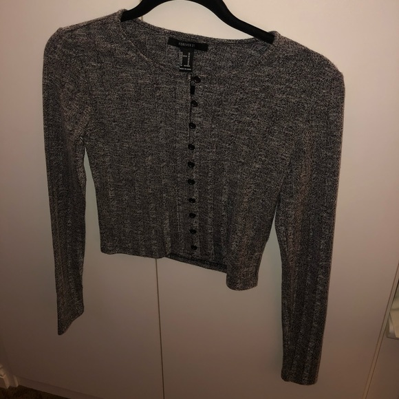 Forever 21 Sweaters - Grey cropped sweater